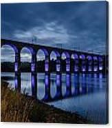 Blue Royal Border Bridge Canvas Print