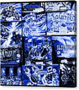 Blue Rush Canvas Print