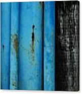 Blue Rusty Farm Gate Canvas Print