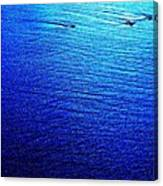 Blue Sand Abstract Canvas Print