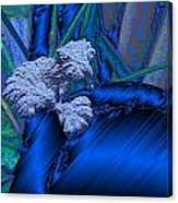 Blue Satin And Mushroom Canvas Print