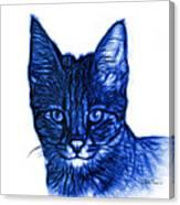 Blue Savannah Cat - 5462 F S Canvas Print