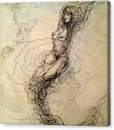 Blue Sea Nymph Canvas Print