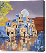 Blue Serpent Pueblo Canvas Print