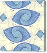 Blue Shells Canvas Print