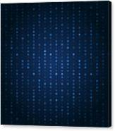 Blue Shining Pattern. Vector Background Canvas Print