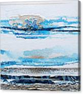 Blue Shore Rhythms And Textures IIi Canvas Print