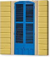 Blue Shutter Door - New Orleans Canvas Print
