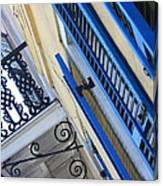 Blue Shutters In New Orleans Canvas Print