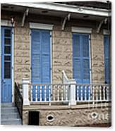 Blue Shutters On Toulouse Canvas Print