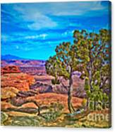 Blue Skies And Canyons Canvas Print
