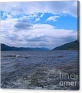 Blue Skies At Loch Ness Canvas Print