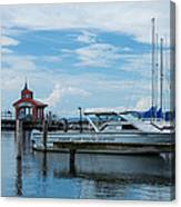 Blue Skies Over Seneca Lake Marina Canvas Print