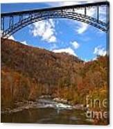 Blue Skies Over The New River Bridge Canvas Print