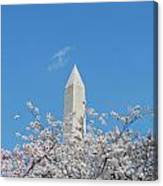 Blue Skies With Washington Monument Canvas Print