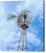 Blue Sky Aermotor Windmill Canvas Print