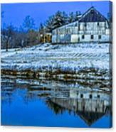 Blue Sky Barn Canvas Print