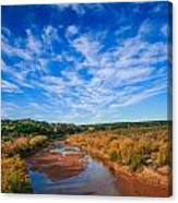 Blue Sky Over The Brazos Canvas Print