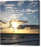 Blue Sky Sunrise Canvas Print