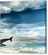 Blue Sky Wing Canvas Print