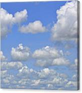 Blue Sky With Cumulus Clouds Day Usa Canvas Print