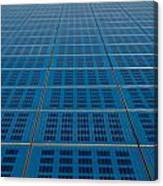 Blue Solar Panel Collector View Canvas Print