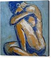 Blue Soul - Female Nude Canvas Print