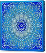 Blue Space Flower Canvas Print