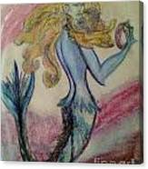 Blue Spike Mermaid Canvas Print