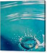 Blue Splash Canvas Print
