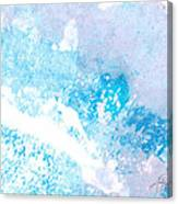 Blue Splash Canvas Print