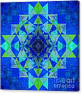 Blue Sri Yantra Variation Canvas Print