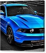 Blue Stang Canvas Print