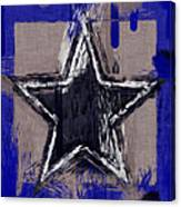 Blue Star Abstract Canvas Print