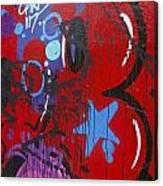 Blue Star Graffiti Nyc 2014 Canvas Print