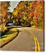 Blue Star Highway In Fall Canvas Print