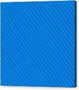 Blue Striped Diagonal Textile Background Canvas Print