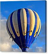 Blue Stripped Hot Air Balloon Canvas Print