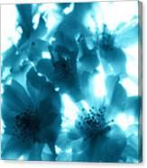 Blue Sunlight Fusion Canvas Print