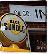 Blue Sunoco Globe Canvas Print