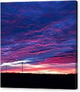 Blue Sunrise In West Texas Canvas Print