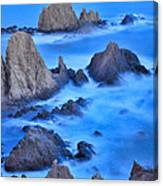 Blue Sunset At The Mermaid Reef Canvas Print