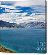 Blue Surface Of Lake Hawea In Central Otago Of New Zealand Canvas Print