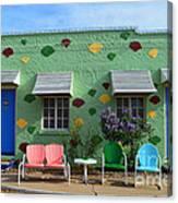 Blue Swallow Motel In Tucumcari In New Mexico Canvas Print