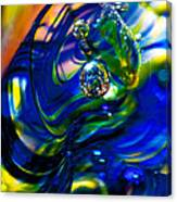 Blue Swirls Canvas Print