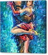 Blue Tango 1 Canvas Print