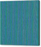 Blue Teal And Yellow Striped Textile Background Canvas Print