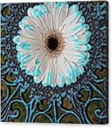 Blue Tipped Flower Canvas Print