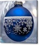Blue Tree Ornament Canvas Print