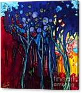 Blue Trees One Canvas Print